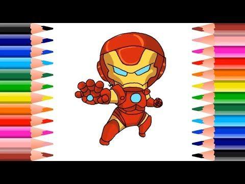 Como Dibujar A Iron Man Draw Tutorial Para Ninos Los Colores Iron Ma Color Disney Characters Deco