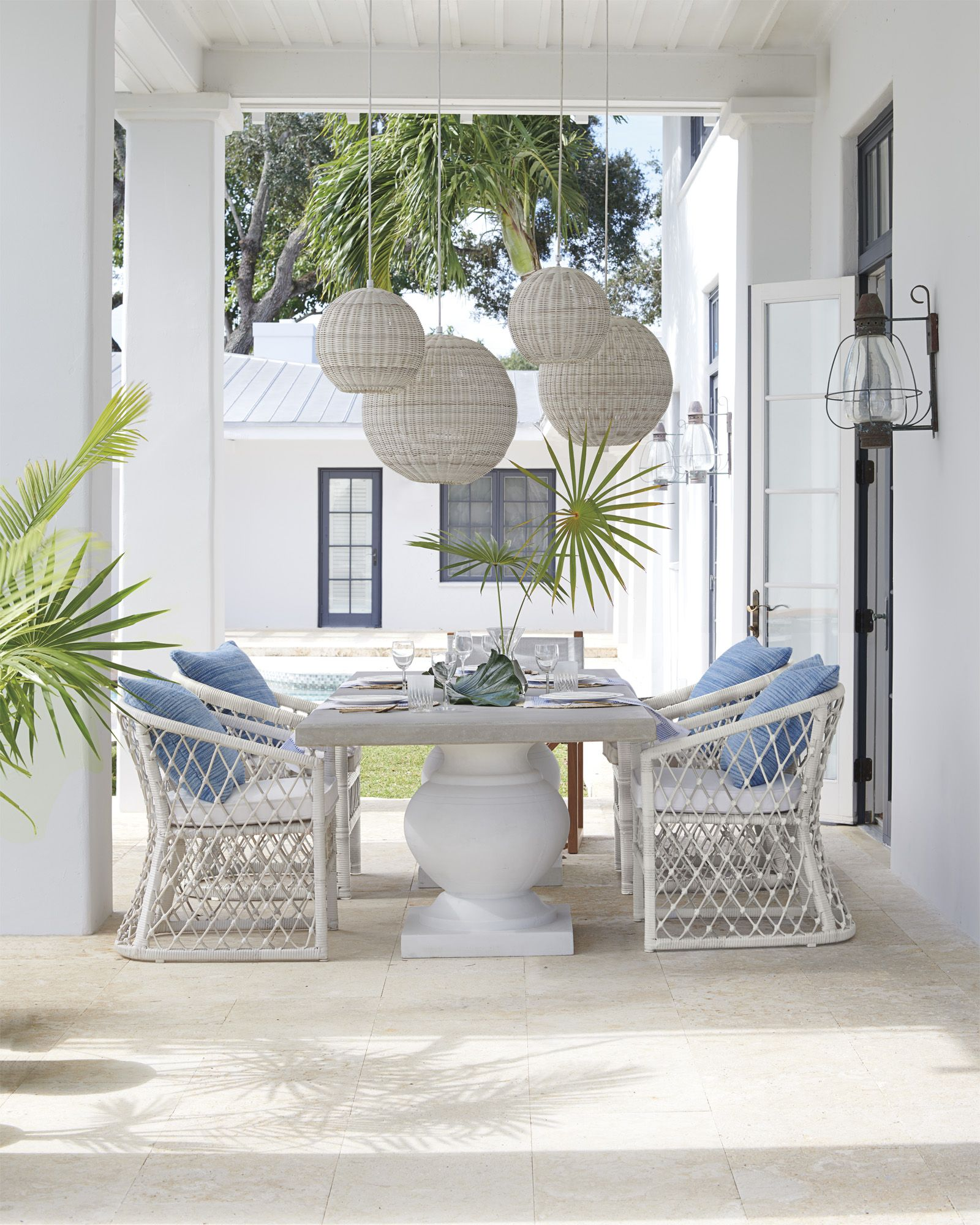 Terrace Dining Table Outdoor Space Design Outdoor Dining Chairs