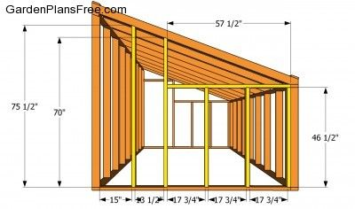 Back wall plans build stuff pinterest walls gardens for Garage lean to plans