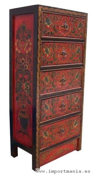 Mueble tibetano sinfonier muebles orientales muebles for Muebles tibetanos