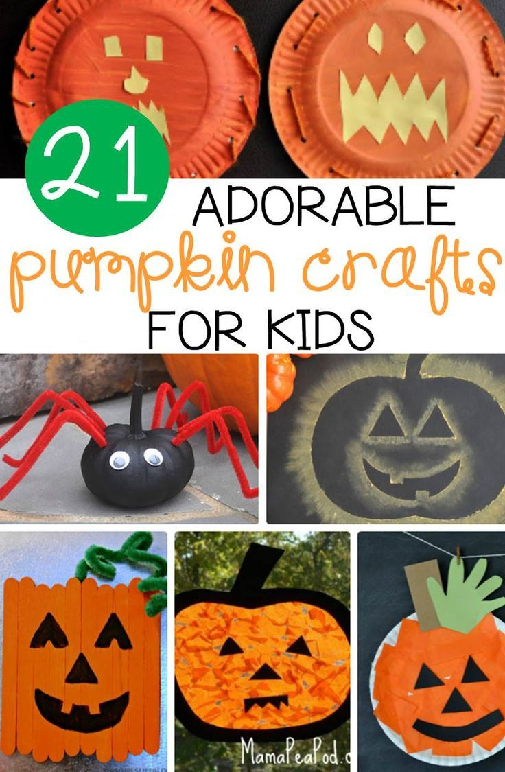 Halloween classroom crafts - 21 Adorable Pumpkin Crafts For Kids