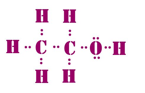 C2H5OH lewis dot structure | Lewis dot structures | Pinterest
