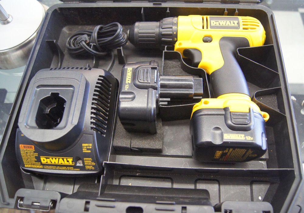 Dewalt Dc727 3 8 Drive 12v Drill Driver With Case Dewalt Drill Driver Drill Dewalt