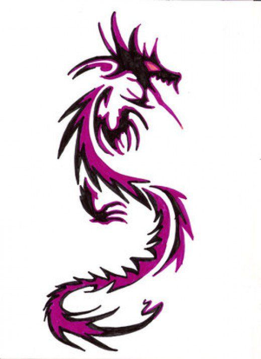 color dragon tattoo designs with pictures symbology