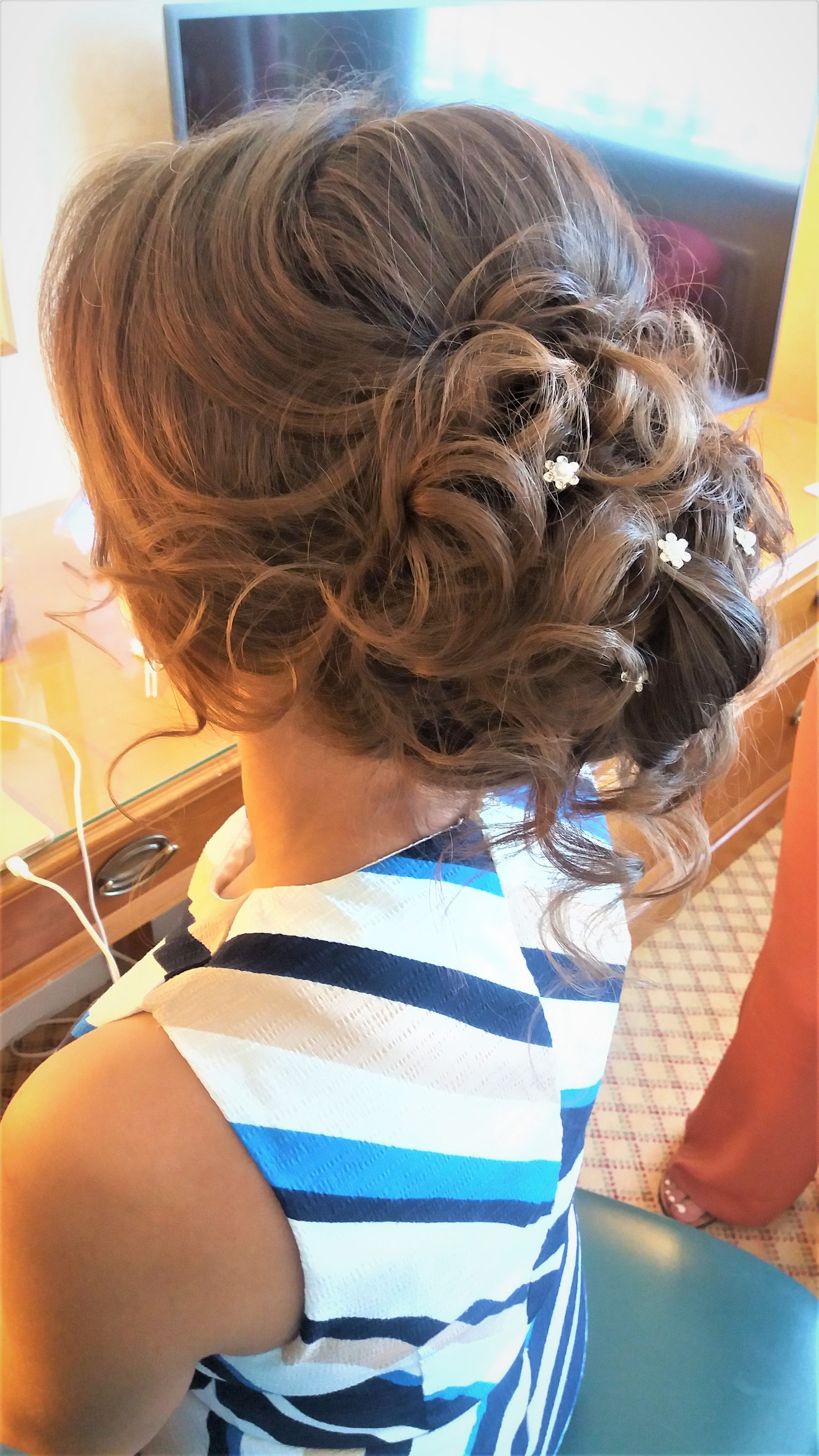Wedding guest hair created by weddinghairnortheast wedding