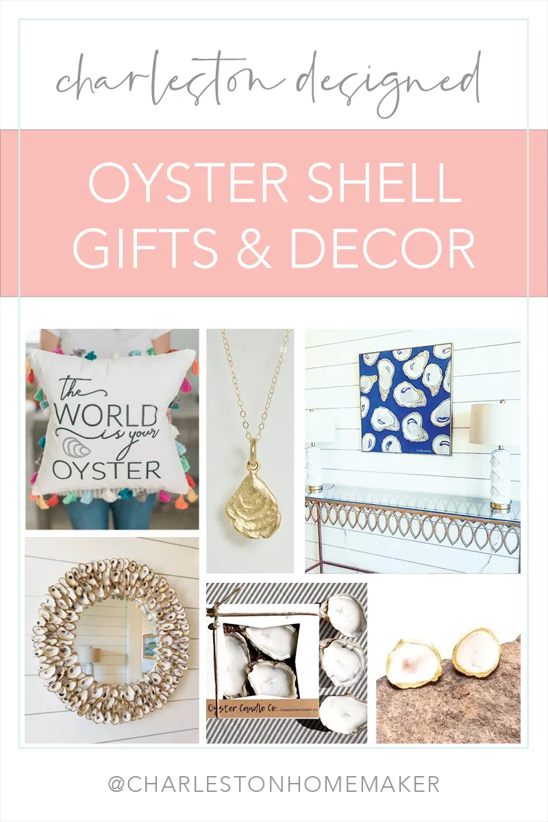 Oyster Shell Decor And Gifts By Charleston Designers Charleston Homemaker Oyster Shells Decor Shell Decor Oyster Shell Mirror