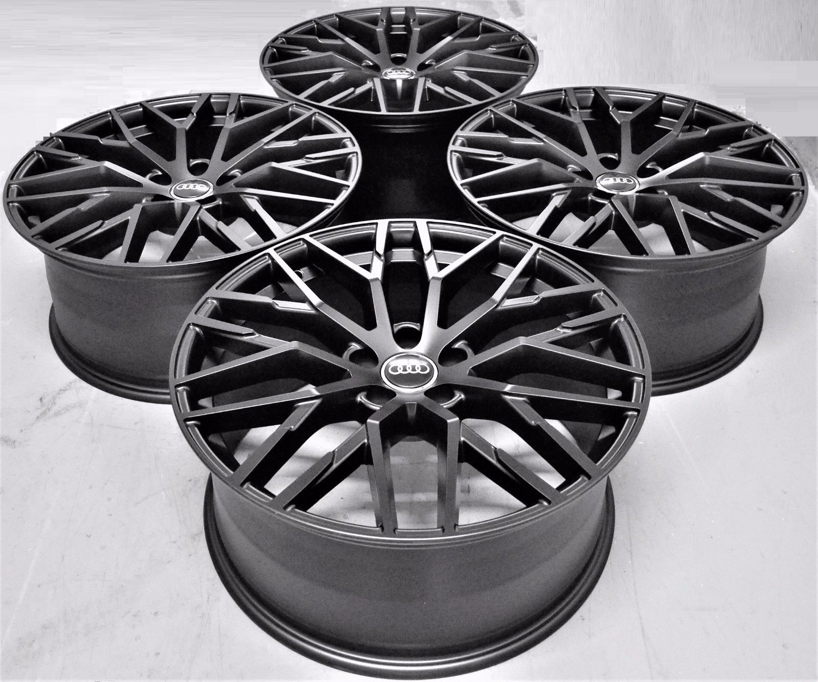 20 2017 R8 Style Black Wheel Rims Fit Audi A4 A6 A8 S4 S6 S8 Rs4 Rs6 1349 Mb Ebay Black Wheels Wheel Rims Wheel