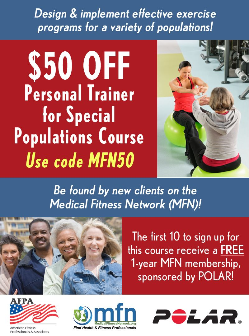 Personal Trainer For Special Populations Certification Fitness