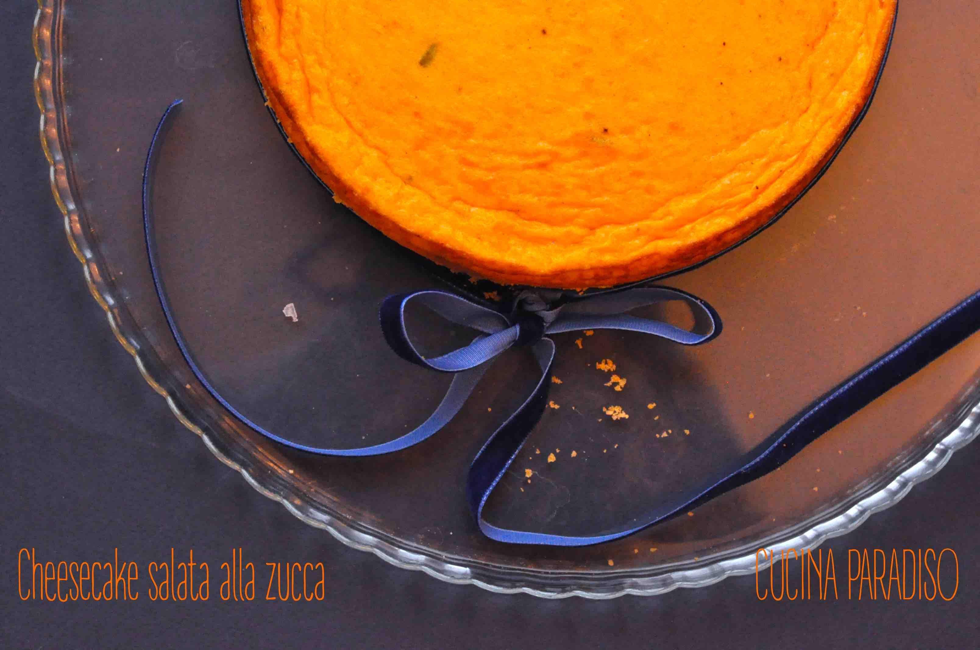 Cheesecake salata alla zucca #cucinaparadiso #zucca #cheesecake