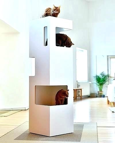 Stylish Cat Tree Fashionable Cat Furniture The Designer Tree Guarantees That You And Your Will Enjoy A Cat Furniture Design Modern Cat Furniture Cat Furniture