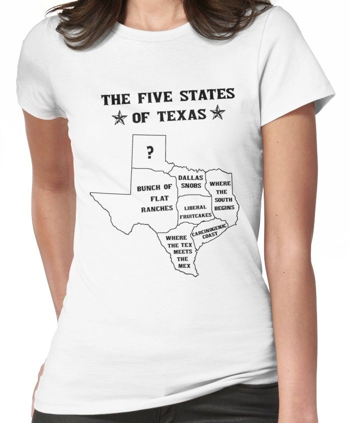 The 5 States of Texas Fitted T-Shirt