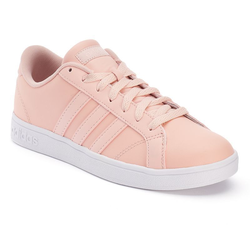 adidas neo trainers black and pink
