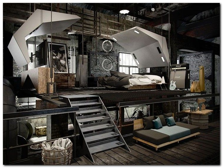 Bon 90+ Industrial Chic Bedroom Designs You Will Be Love