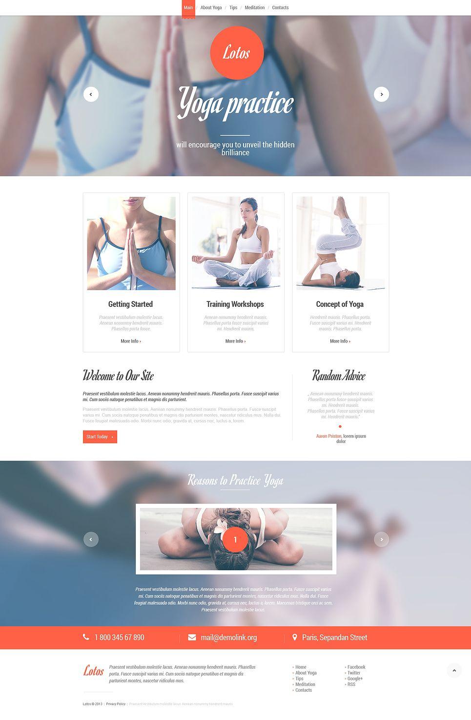 Yoga Responsive Website Template Responsive Yoga Template Website Yoga Studio Website Yoga Websites Responsive Website Template
