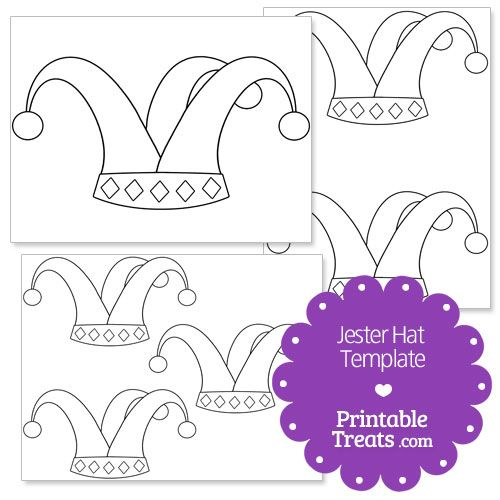 Printable Jester Hat Shape Template Jester Hat Shape Templates