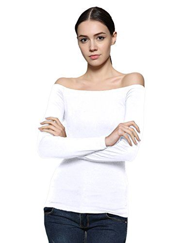 000371d392c570 Maggie Tang Fitted Off Shoulder Long Sleeve Blouse Top Si... https:/