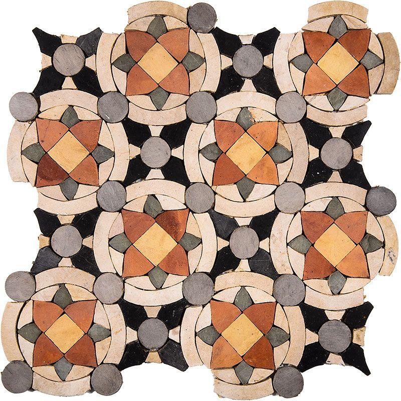 Glass Mosaic Origami Quilt Flooring