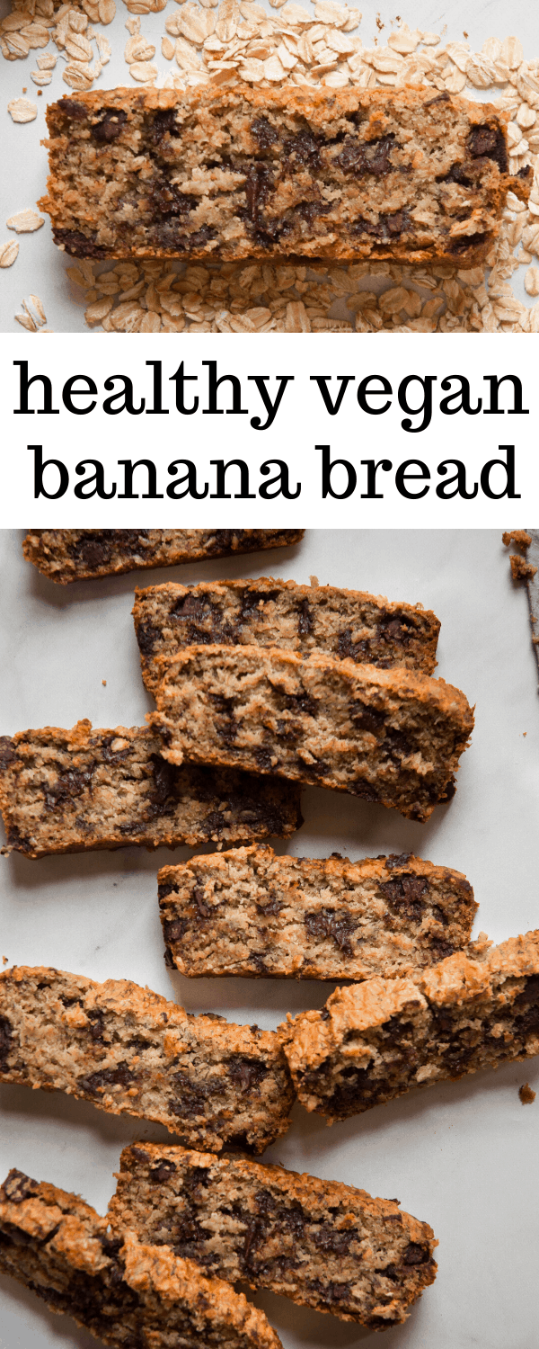 Vegan Banana Bread Is Made Without Using Nuts Or Eggs And Instead Includes Maple Syrup Coconut Oil Q In 2020 Vegan Banana Bread Vegan Banana Easy Banana Bread Recipe