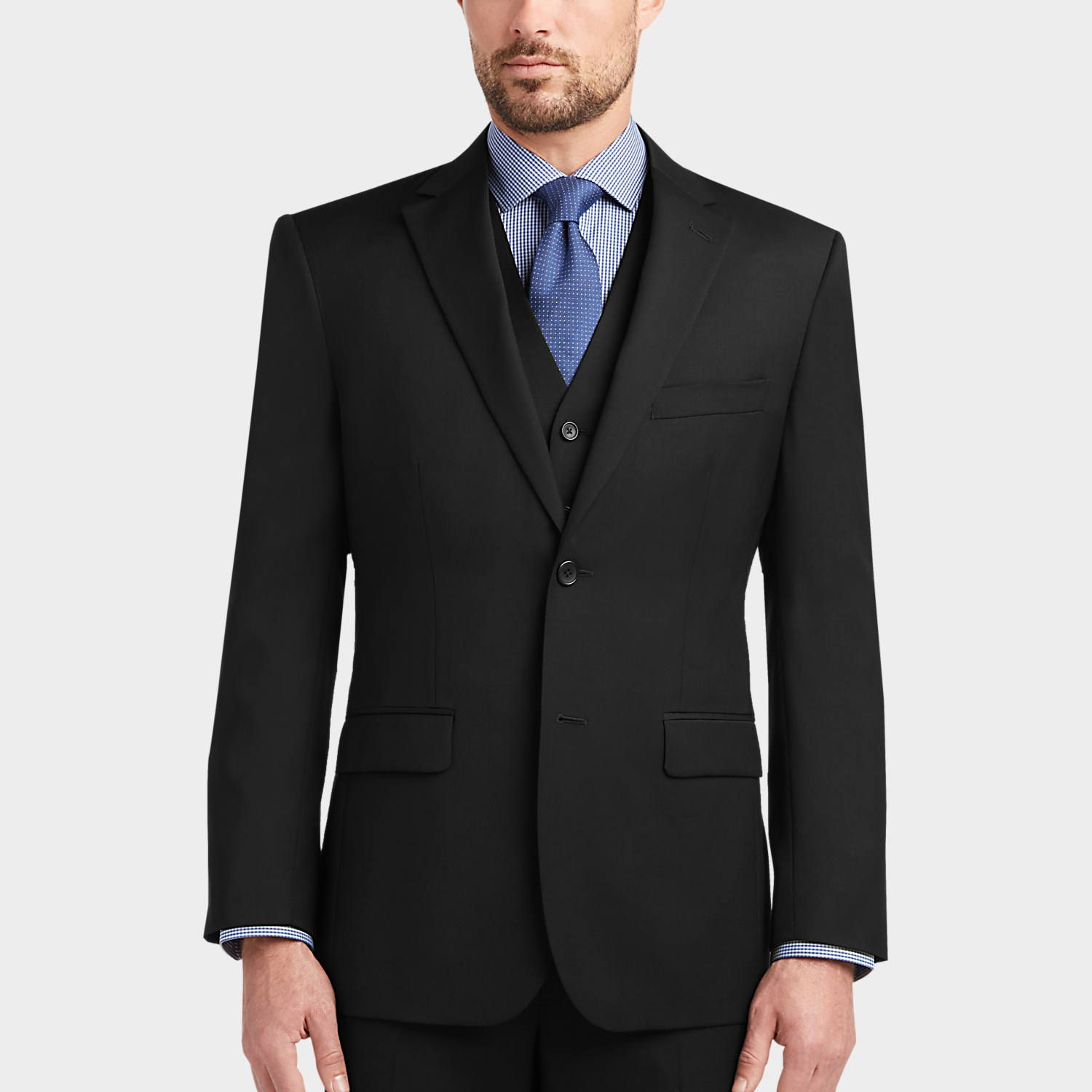 Buy a Awearness Kenneth Cole Black Slim Fit Vest Suit and other ...