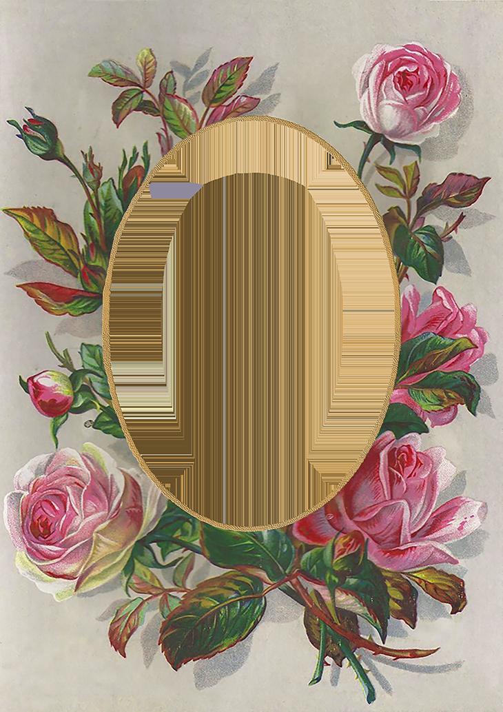 Valentine Sweethearts Part Xii Flower Frame Rose Frame Printable Frames