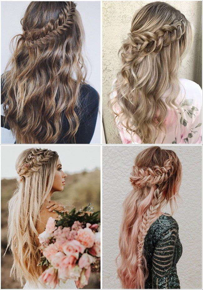 100+ Most Popular Wedding Hairstyles from @beyondtheponytail #loosebraids