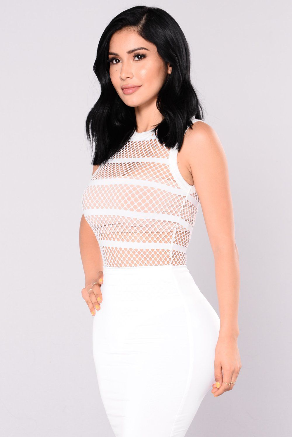 5d5e280de12 Spread The Word Fishnet Bodysuit - White