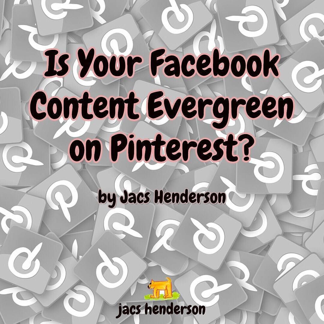 Is Your Facebook Content Evergreen on Pinterest?  Live on the Networking Superstars Blog ... my latest article...  How to Share your Facebook page posts to Pinterest   We are talking about YOU sharing the Content you Create for YOUR Brand where eager consumers can find it.  When you create value and inspiration it is a tragedy for that to be lost down your timeline and Pinterest is a place to showcase your content where people will find it by... Read Here ... http://buff.ly/2apg2gZ   Jacs…