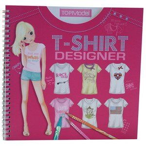 Top Model T-Shirt Designer - Just in time for the spring season there's now a new TOPModel colouring book Ð the T-Shirt Designer! Use stencils to draw lots of cute and trendy symbols, letters, or decorations. And you can also decorate your T-shirts