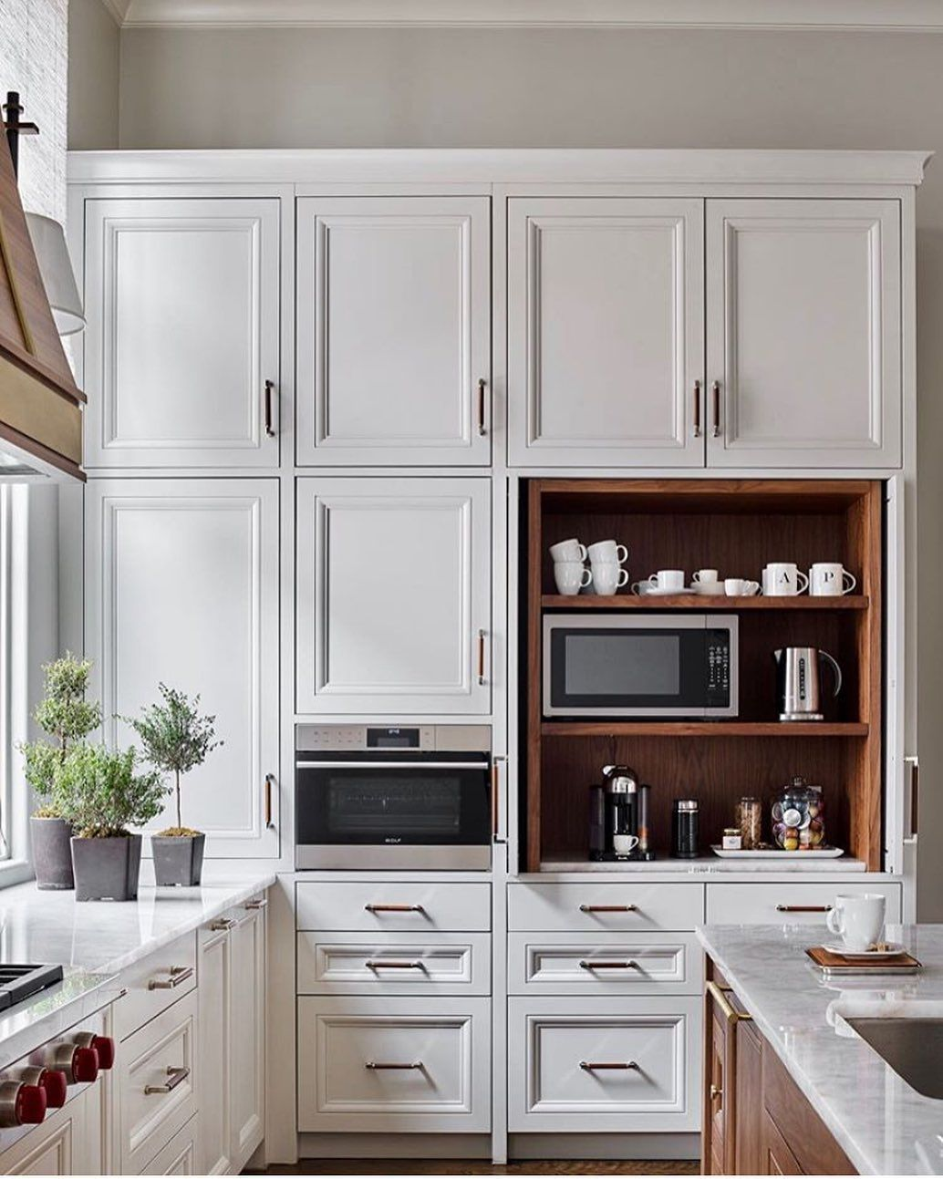 Scoutandnimble On Instagram Cappuccino Anyone We Are Loving This Hidden Coffee Station In This In 2020 Kitchen Design Trends Kitchen Inspirations Kitchen Trends