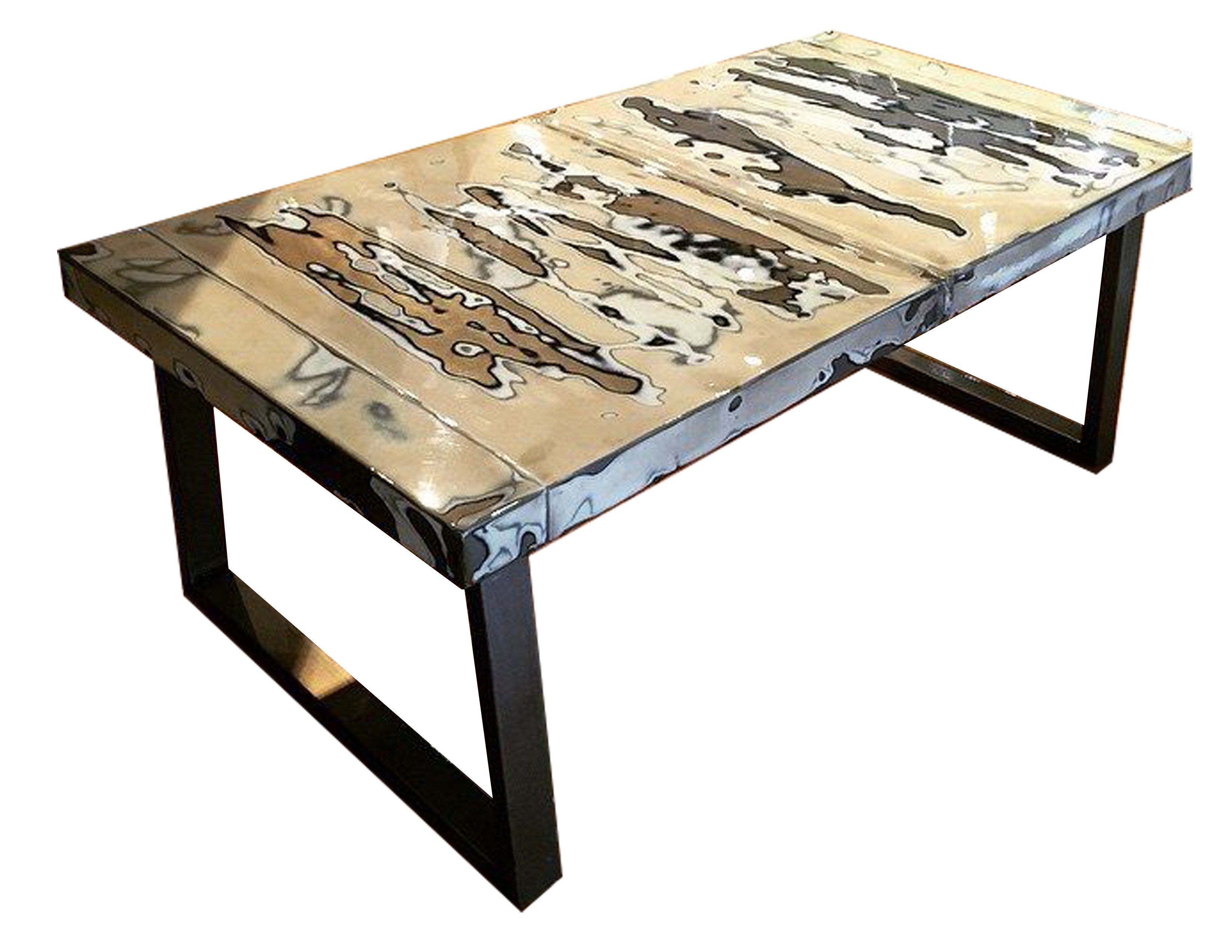 CAR HOOD COFFEE TABLES These unique coffee table are made with