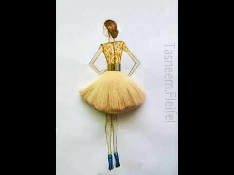 تعليم رسم وتصميم الازياء مع التلوين How To Draw Fashion Youtube Fashion Illustration Tutorial Illustrator Tutorials Fashion Illustration