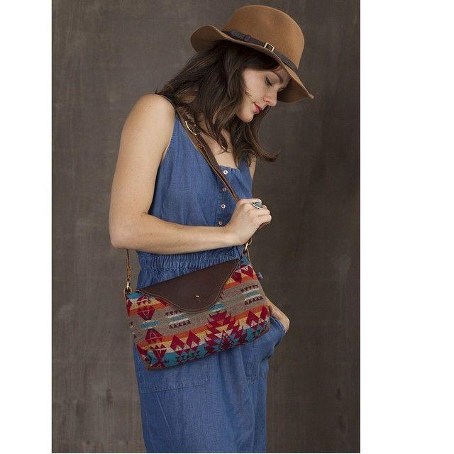 Our Nina bag in a Pendleton® jacquard.