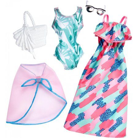 Photo of Barbie Fashion with 2 Outfits and Accessories (Styles May Vary) – Walmart.com