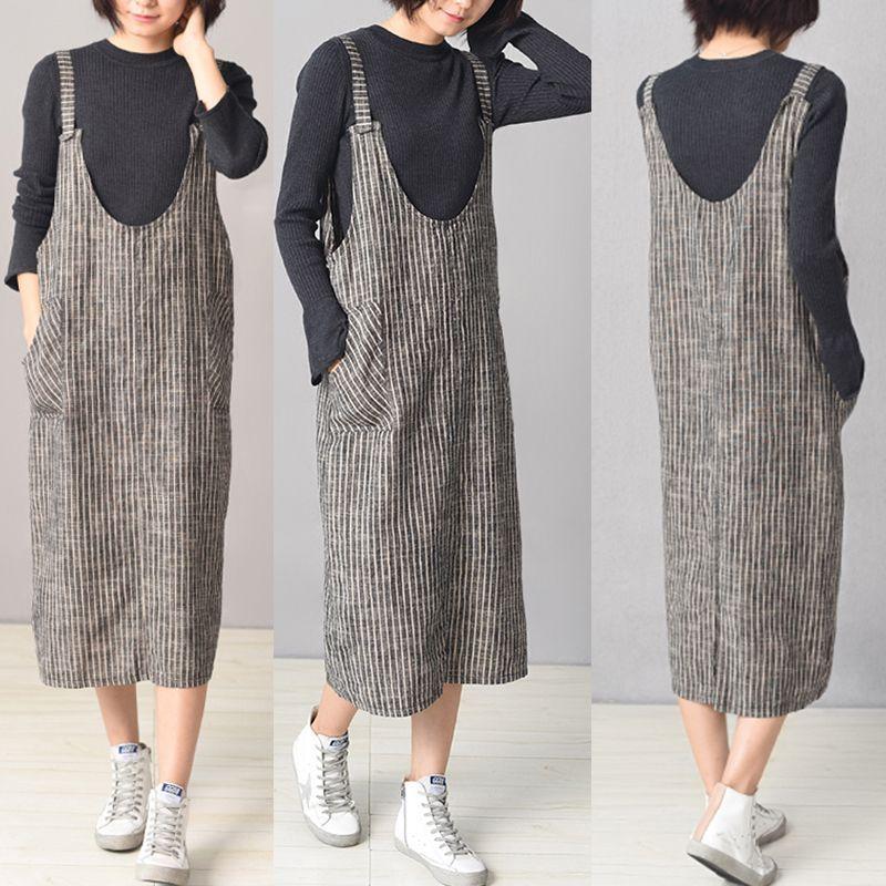 Photo of Women Stripe Spaghetti Strap Pocket Vintage Dresses Online – NewChic Mobile #wom…