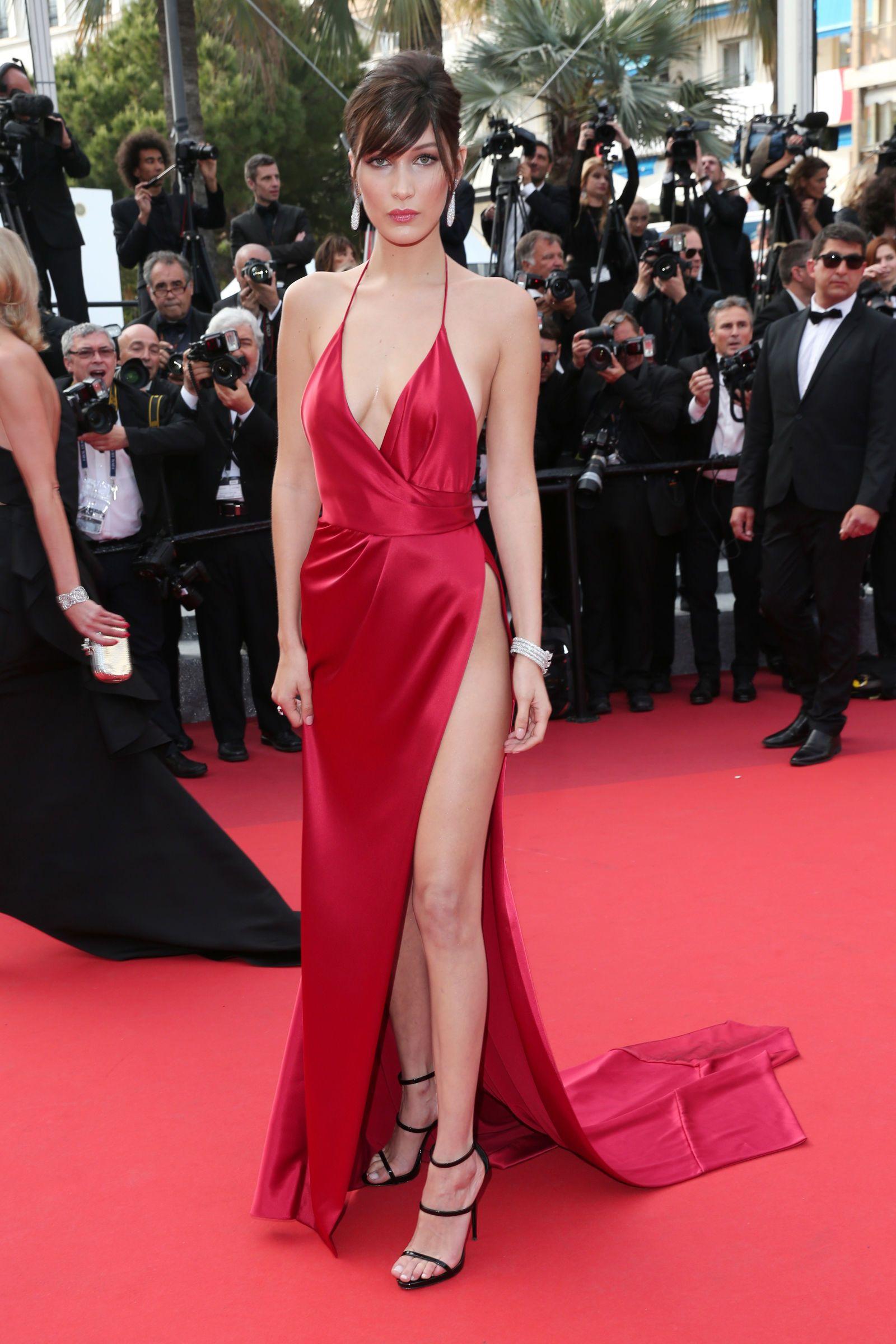 13++ Bella hadid cannes red dress ideas