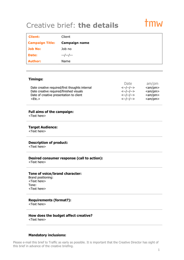 Creative Brief Template 5 1 Png 636 900 Creative Brief Template Design Brief Template Entrepreneur Advice