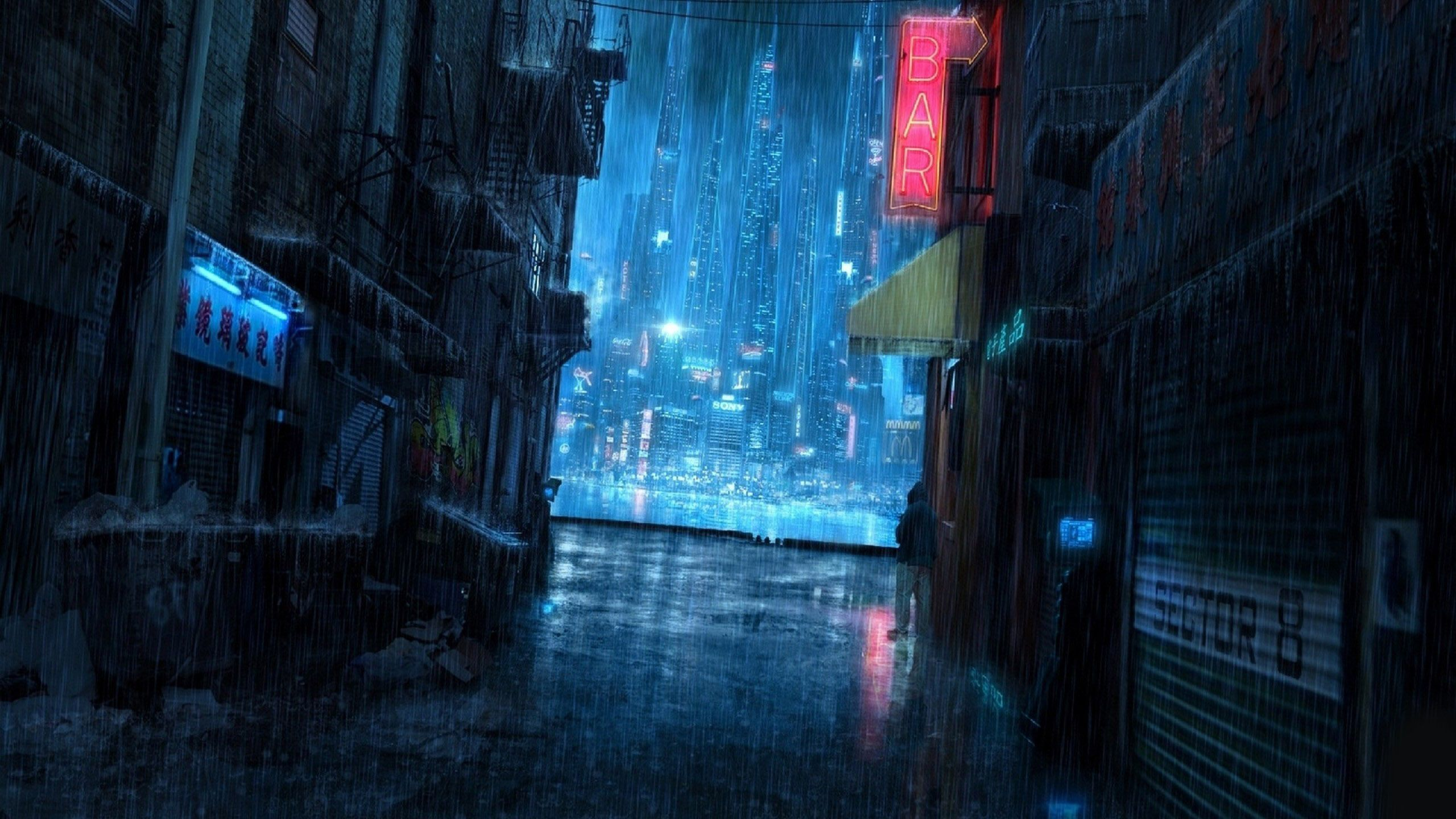 Cyberpunk 2077 Street With Images Anime Scenery Wallpaper