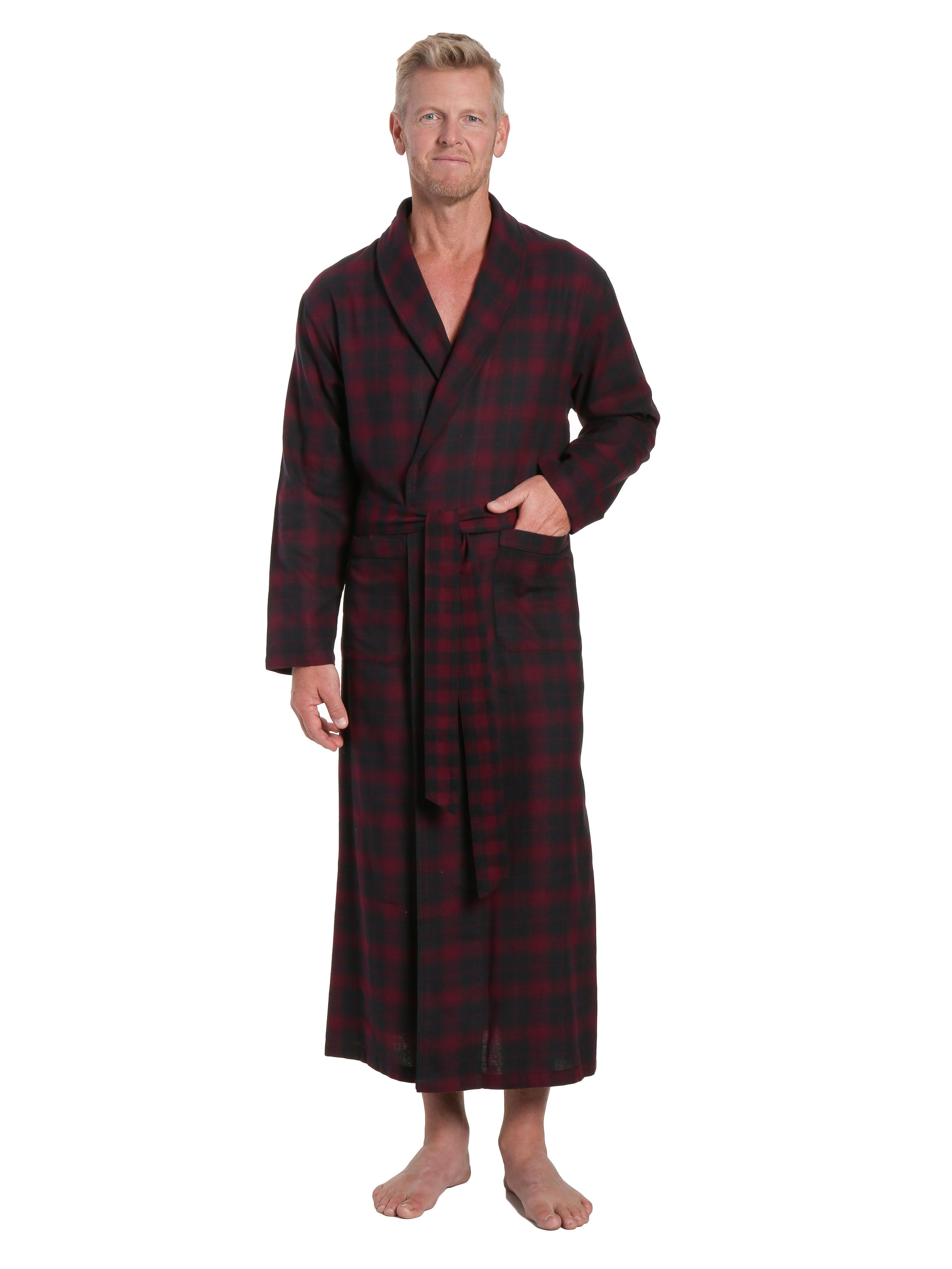 Flannel shirt apron  Menus  Cotton Flannel Long Robe  Long robe and Products