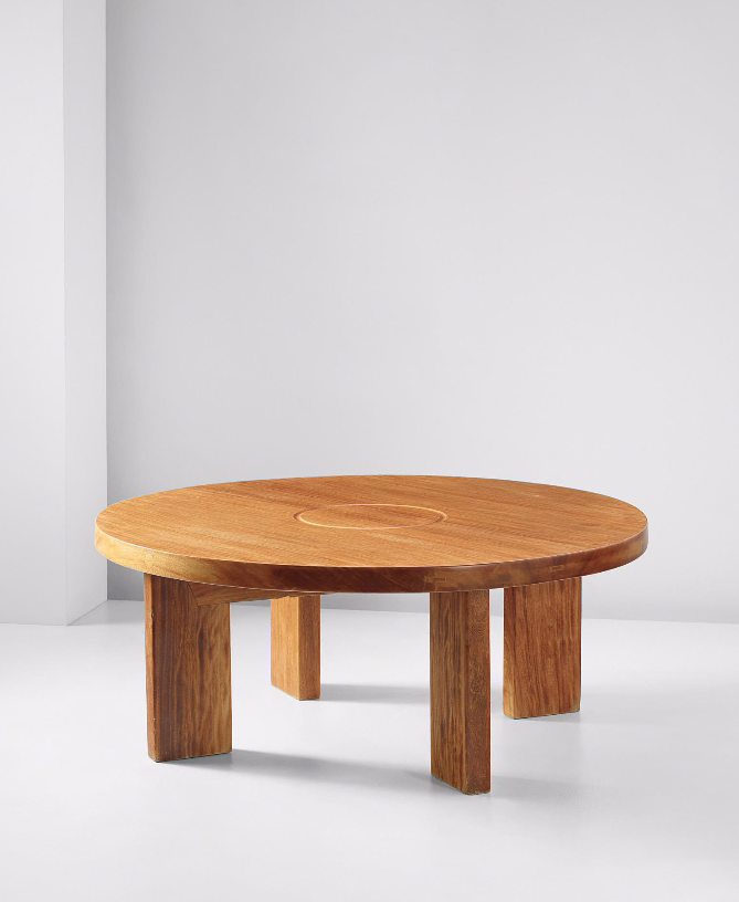 Charlotte Perriand; Iroko Low Table, 1962. | Muebles madera ...