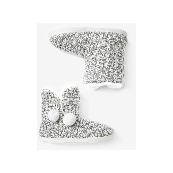 Fur-Lined Bootie Slippers featuring polyvore, fashion, shoes and slippers