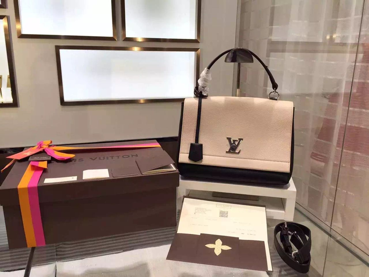 Louis Vuitton Lockme II Bag from the Spring Summer 2015 Collection, Vanille  Noir - Shop Ms Fashion Junkie 214eb99b02