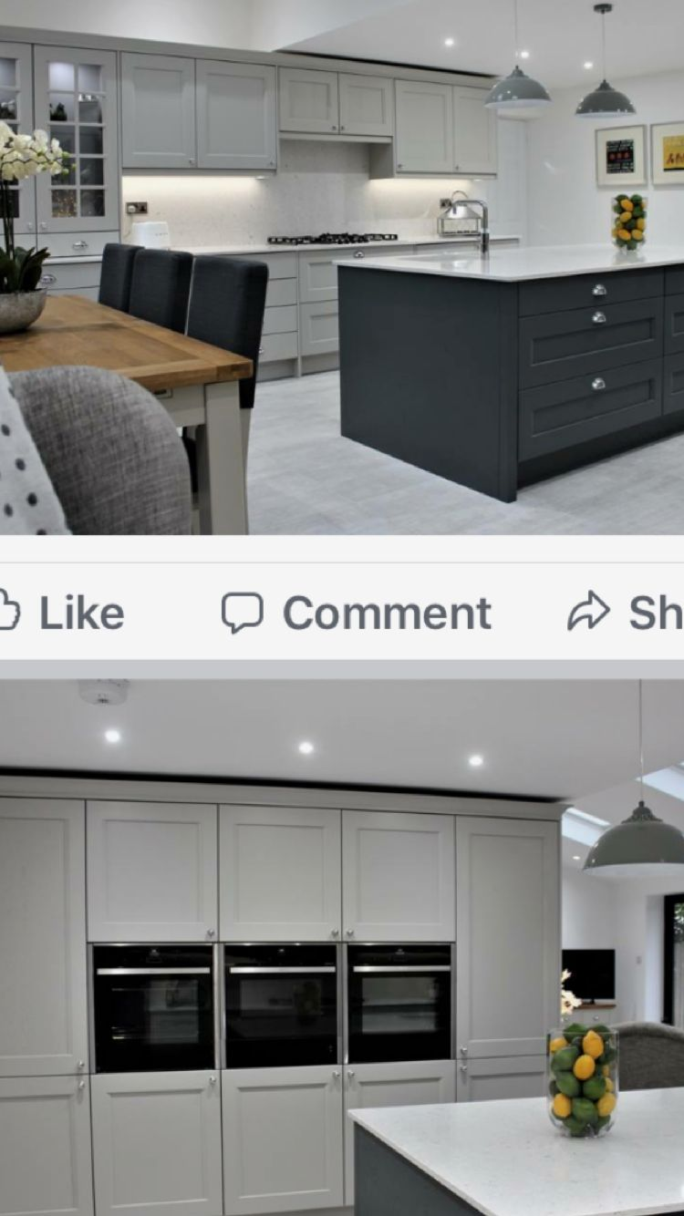Bank Of Cabinets Open Plan Kitchen Living Room Living Room Kitchen Home Kitchens