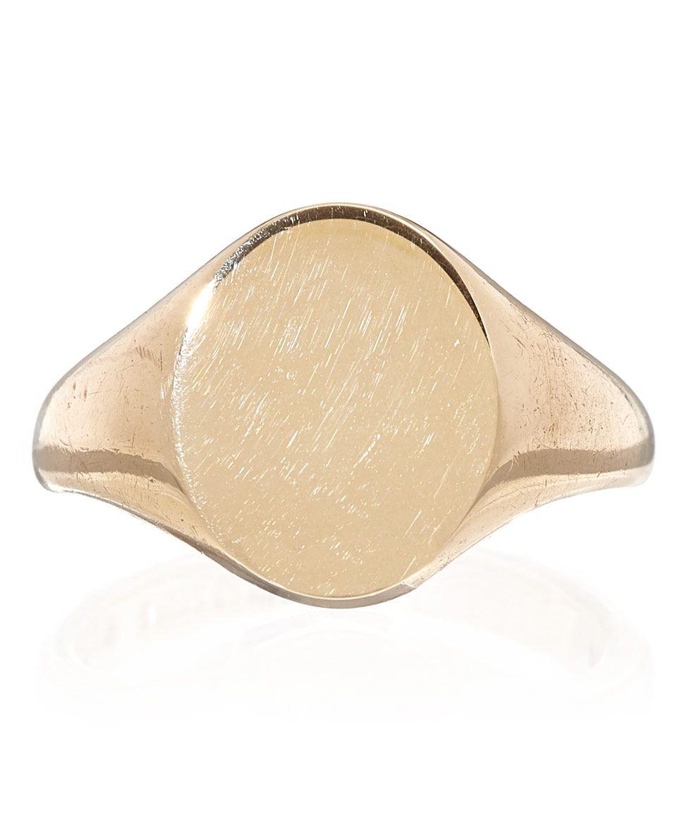 e217d963499ec Annina Vogel Gold Antique Oval Signet Ring   Jewellery by Annina ...