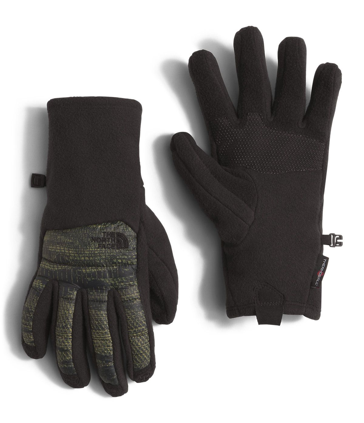 Warm and functional in cool-to-cold conditions, this Etip™ glove is insulated with ThermoBall™ powered by PrimaLoft® at the back of the hand and features touchscreen conductive fibers at the fleece palms and on all five fingers. Round synthetic clusters trap and retain heat to achieve lightweight warmth in cold, wet conditions.