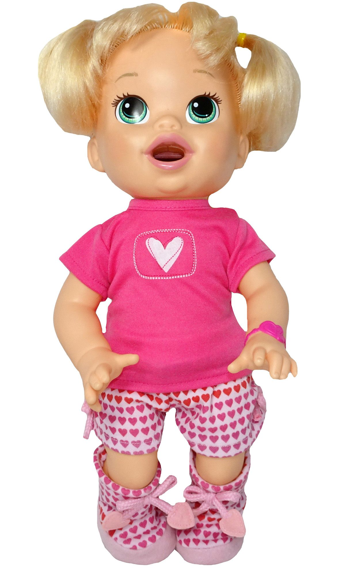 Pink Heart Pyjama Set Baby alive dolls, Girl doll