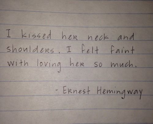ernest hemingway book quote faint a farewell to arms the