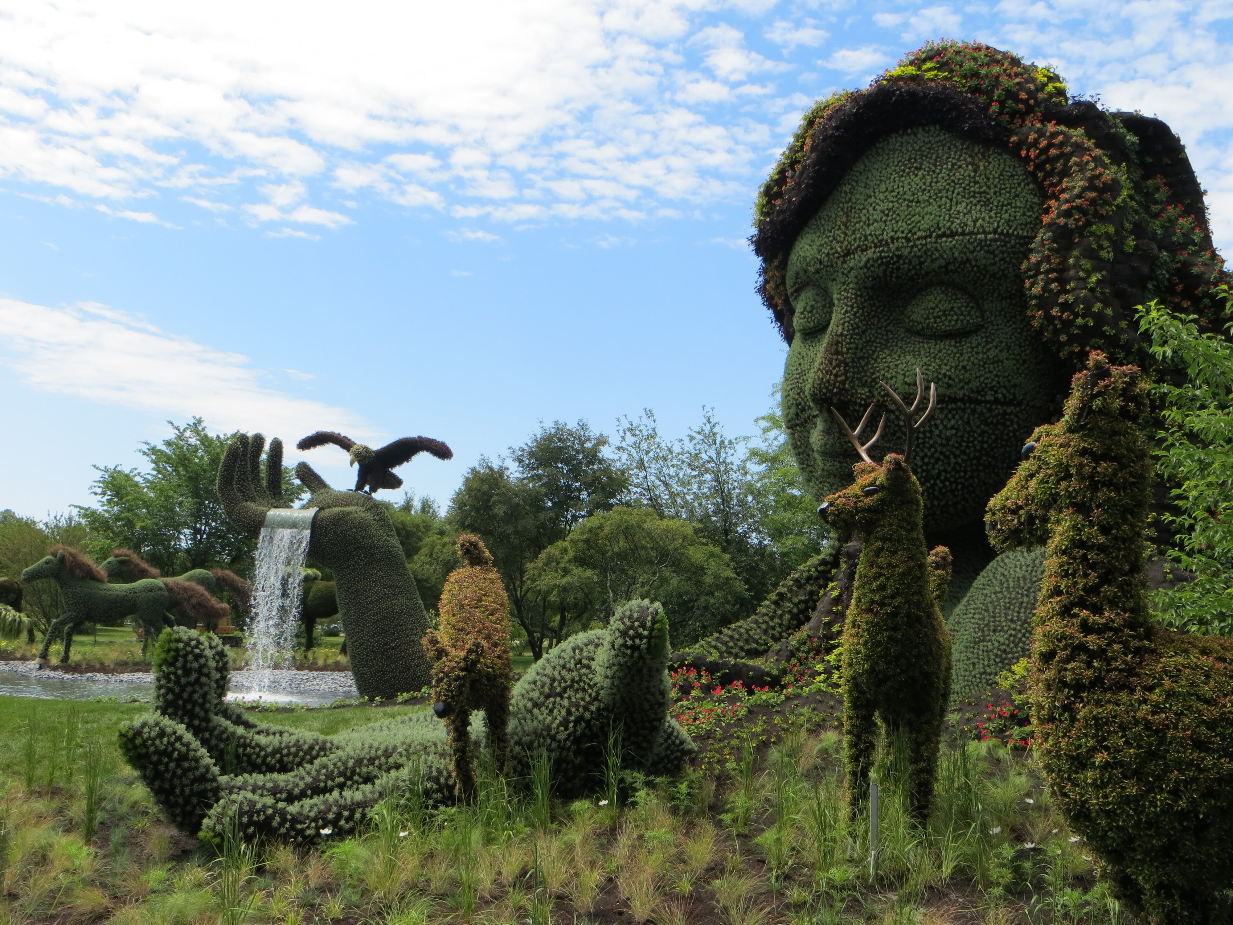 Amazing floral sculptures in Mosaïcultures internationales Montreal (these are larger than life)