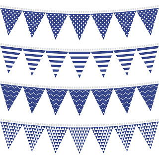 Banderines en Azul para Fiestas para Imprimir Gratis ...