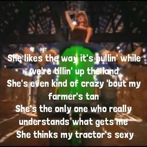 She thinks my tractors sexy lyrics