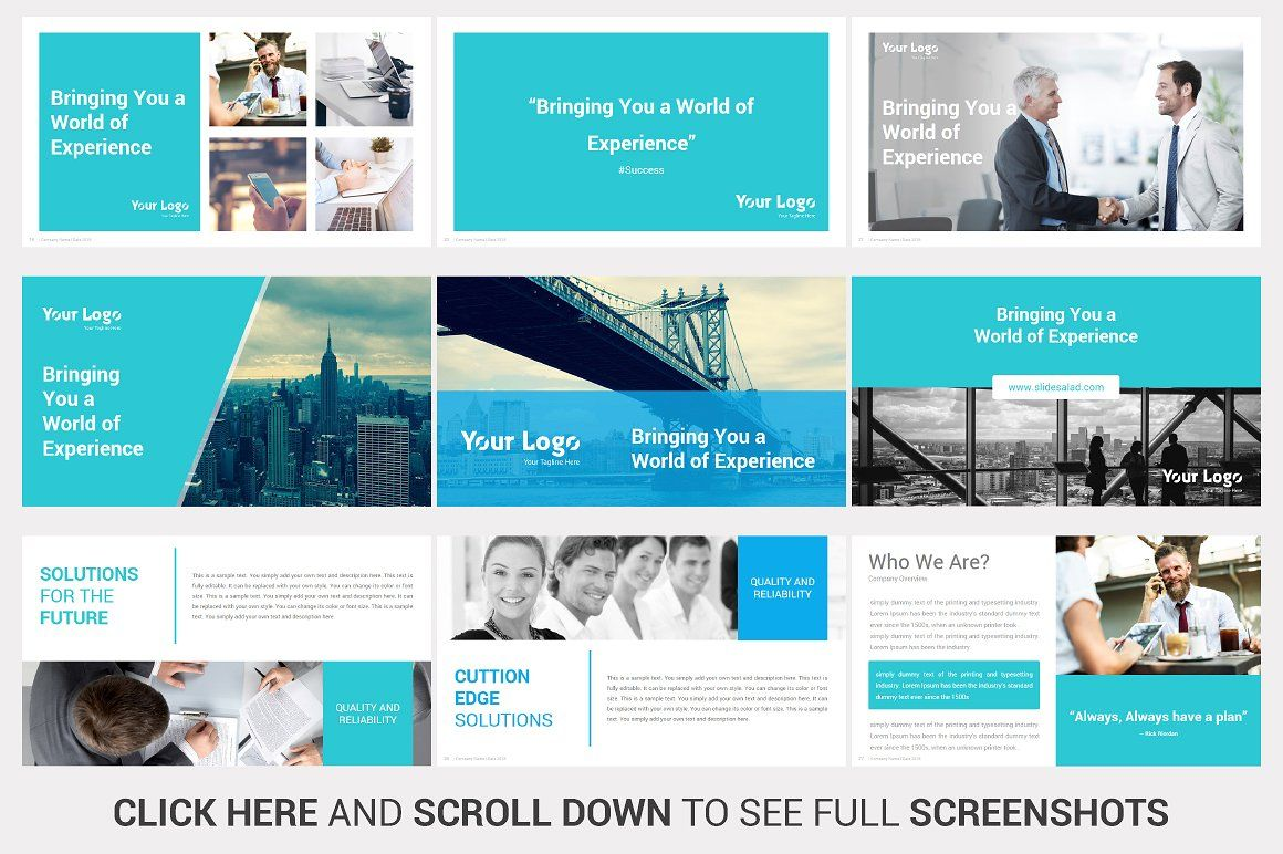 Investors PowerPoint Pitch Decks by SlideSalad on